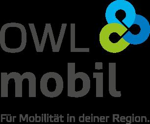 OWL Mobil · Für Mobilität in den Kreisen Minden-Lübbecke, Herford und Gütersloh · Logo