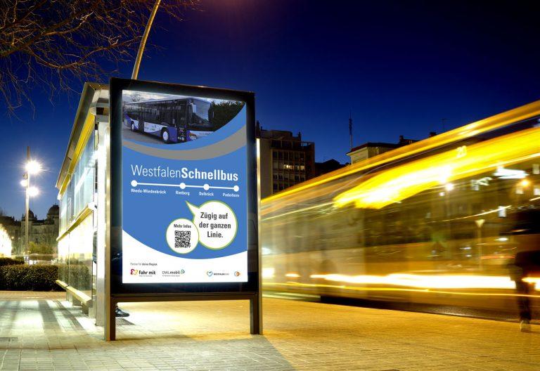 OWL Mobil · Für Mobilität in den Kreisen Minden-Lübbecke, Herford und Gütersloh · Schnellbus Westfalen
